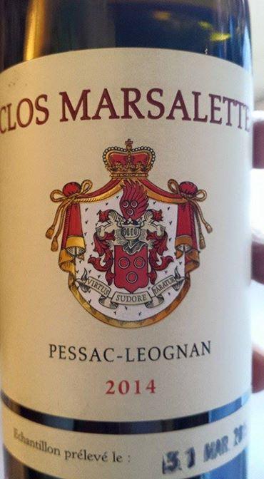 Clos Marsalette 2014 – Pessac-Léognan