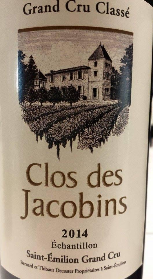 Clos des Jacobins 2014 – Saint-Emilion Grand Cru Classé