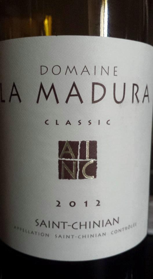 Domaine La Madura – Classic 2012 – Saint-Chinian