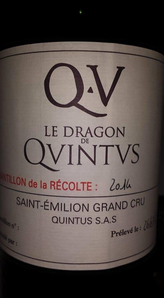 Le Dragon de Quintus 2014 – Saint-Emilion Grand Cru