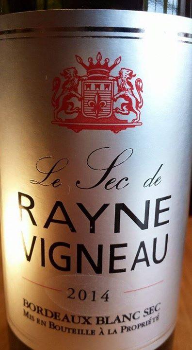Le Sec de Rayne Vigneau 2014 – Bordeaux