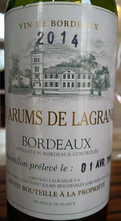 Les Arums de Lagrange 2014 – Bordeaux