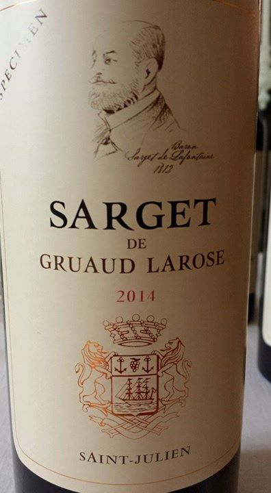 Sarget de Gruaud Larose 2014 – Saint-Julien