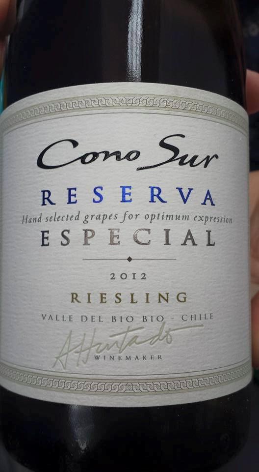 Cono Sur – Riesling 2012 – Reserva Especial – Valle del Bio Bio – Chile