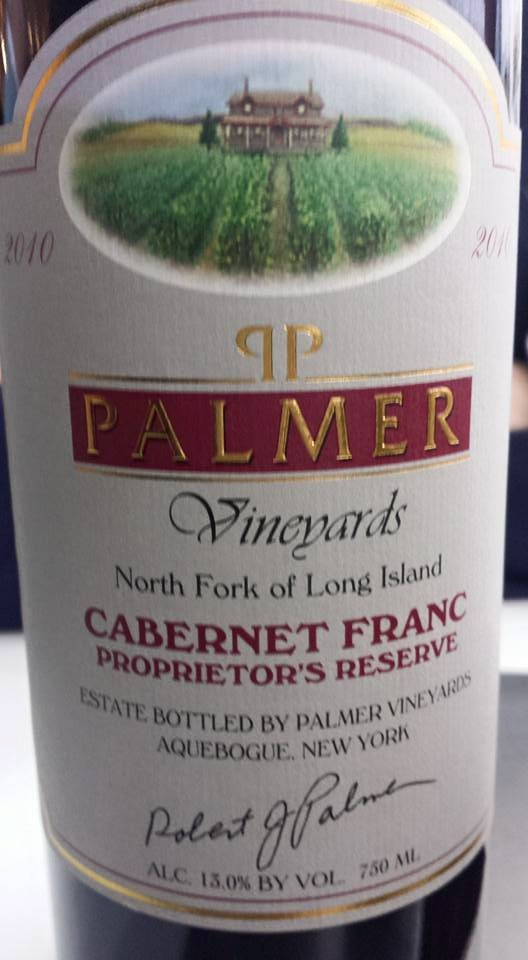 Palmer Vineyards – Cabernet Franc 2010 Proprietor's Reserve – North Fork of Long Island