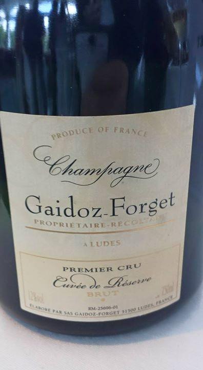 Champagne Gaidoz Forget – Cuvée Réserve – 1er Cru – Brut