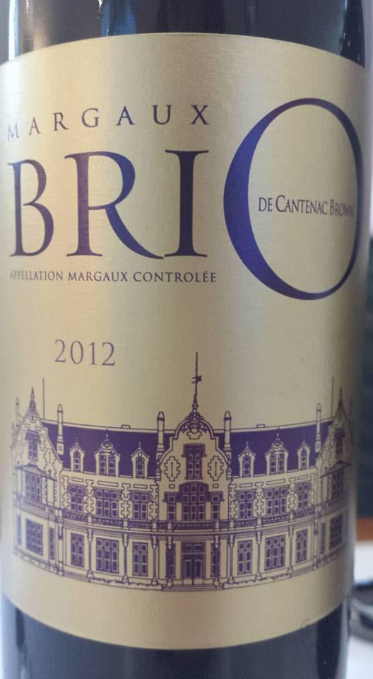 Brio de Cantenac Brown 2012 – Margaux
