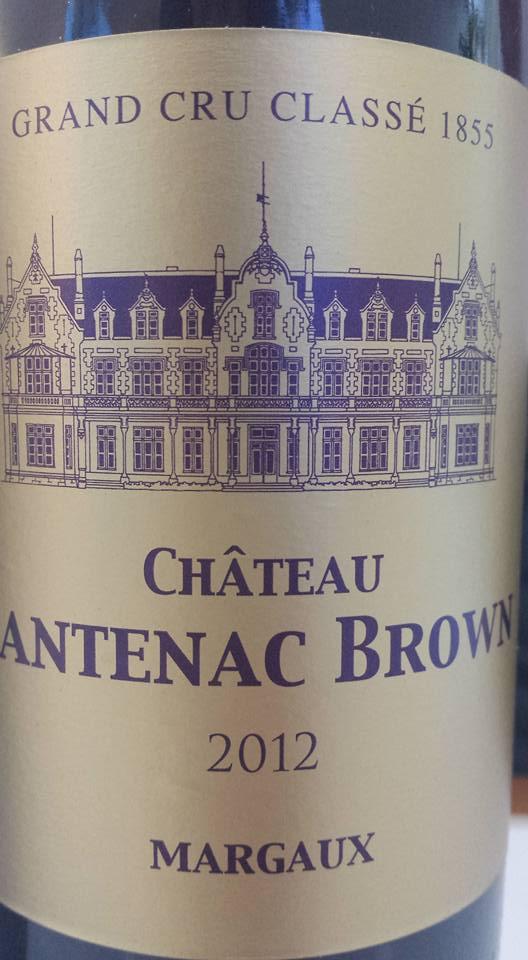 Château Cantenac Brown 2012 – 3ème Grand Cru Classé à Margaux