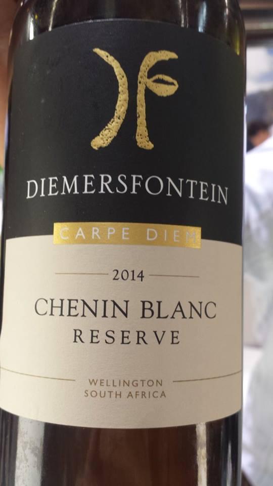 Diemersfontein – Carpe Diem – Chenin Blanc Reserve 2014 – Wellington