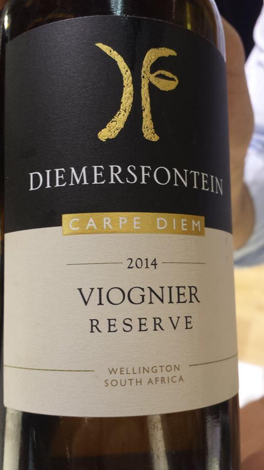 Diemersfontein – Carpe Diem – Viognier Reserve 2014 – Wellington