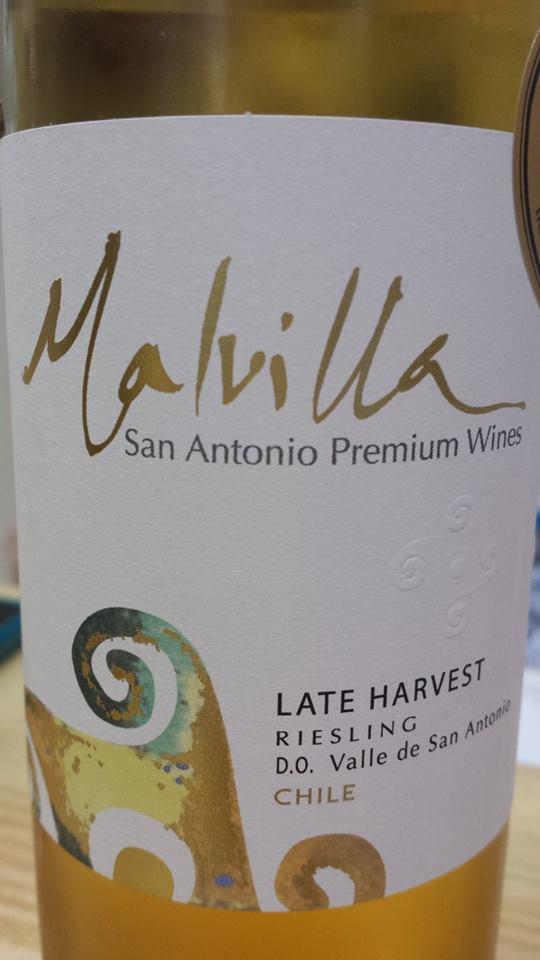 Malvilla – San Antonio Premium Wines – Late Harvest – Riesling 2011 – D.O. Valle de San Antonio