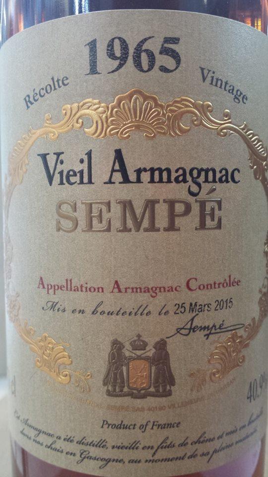 Armagnac Sampé 1965 – Armagnac