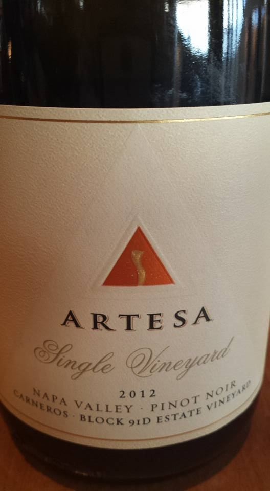 Artesa Winery – Pinot Noir 2013 – Carneros – Napa Valley