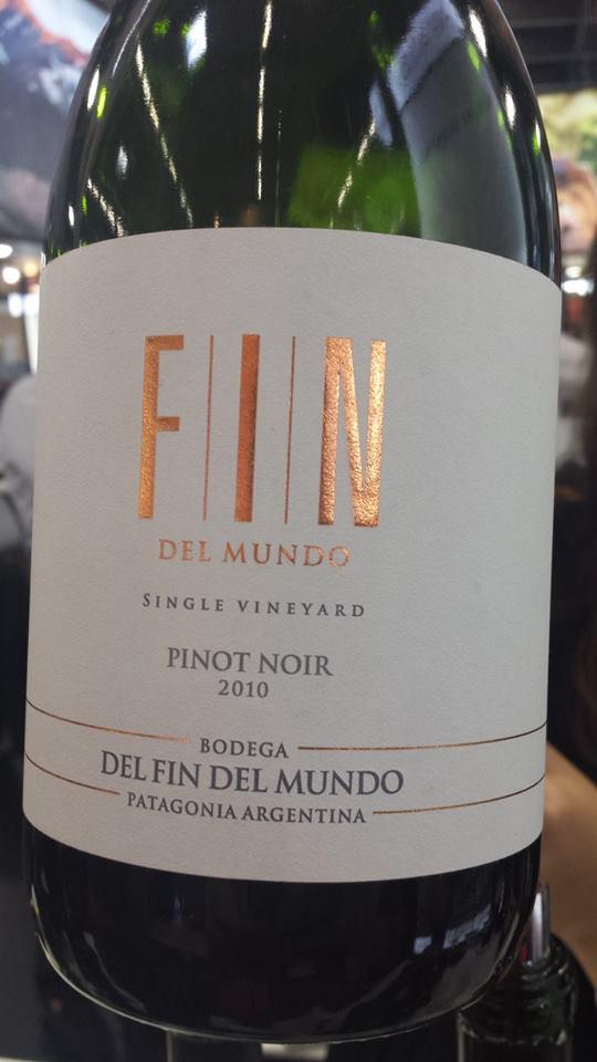 Bodega del Fin del Mundo – Single Vineyard Pinot Noir 2010 – Patagonia – Argentina