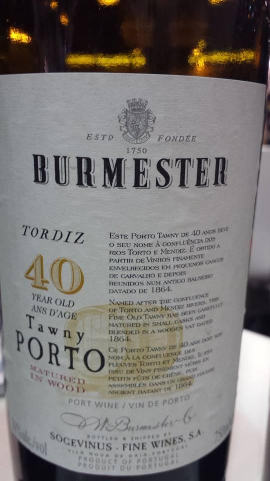 Burmester – Tordiz – 40 year Old – Tawny Porto
