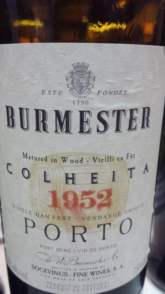 Burmester – Colheita 1952 – Singler Harvest – Porto