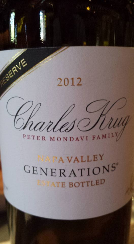 Charles Krug – Generations 2012 – Family Reserve – Napa Valley
