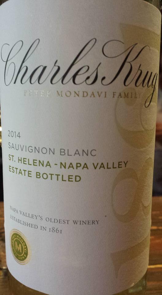 Charles Krug – Sauvignon Blanc 2014 – St. Helena – Napa Valley