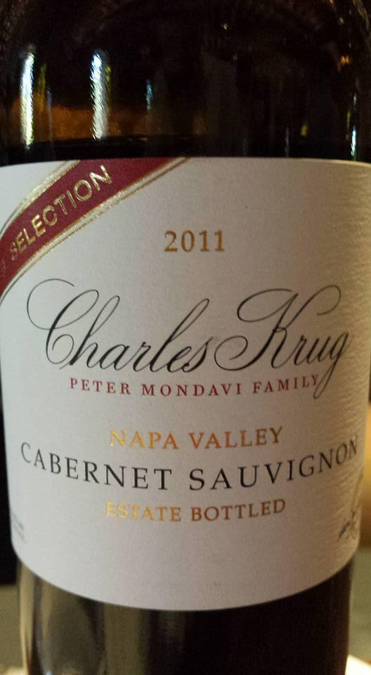 Charles Krug – Cabernet Sauvignon 2011 – Vintage Selection – Napa Valley