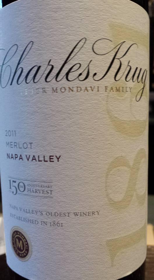 Charles Krug – Merlot 2011 – Napa Valley