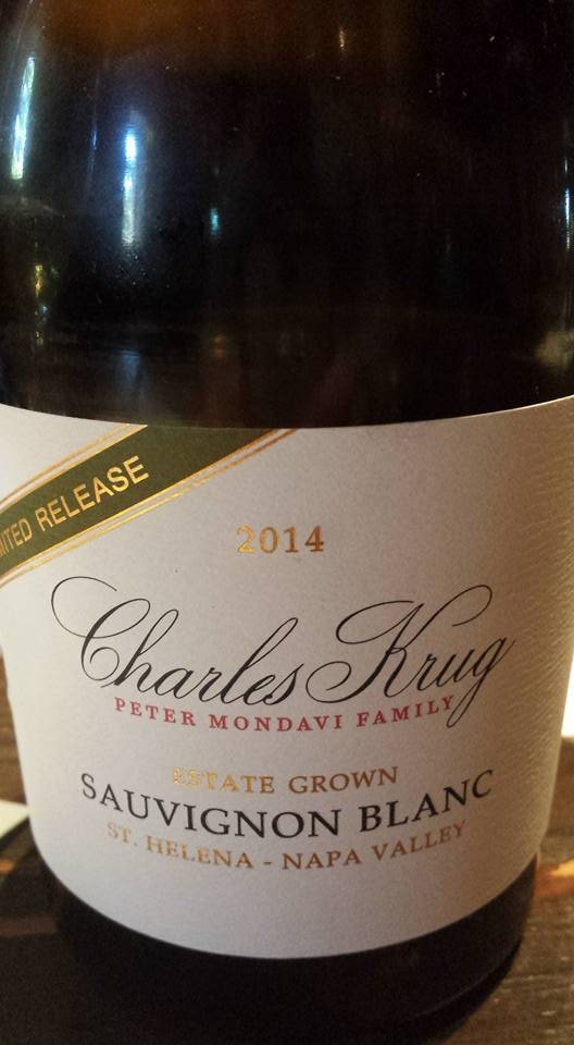 Charles Krug – Sauvignon Blanc 2014 Limited Reserve – St Helena – Napa Valley