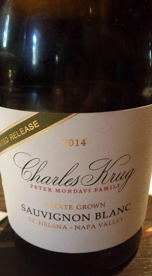 Charles Krug – Sauvignon Blanc 2014 Limited Reserve – St Helena – Napa Valley