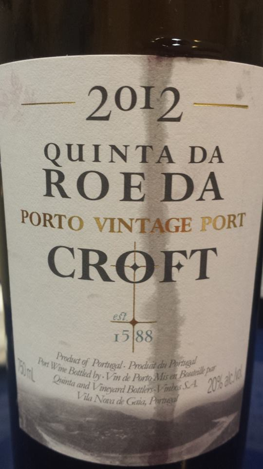 Croft – Quinta da Roeda – 2012 Vintage Port