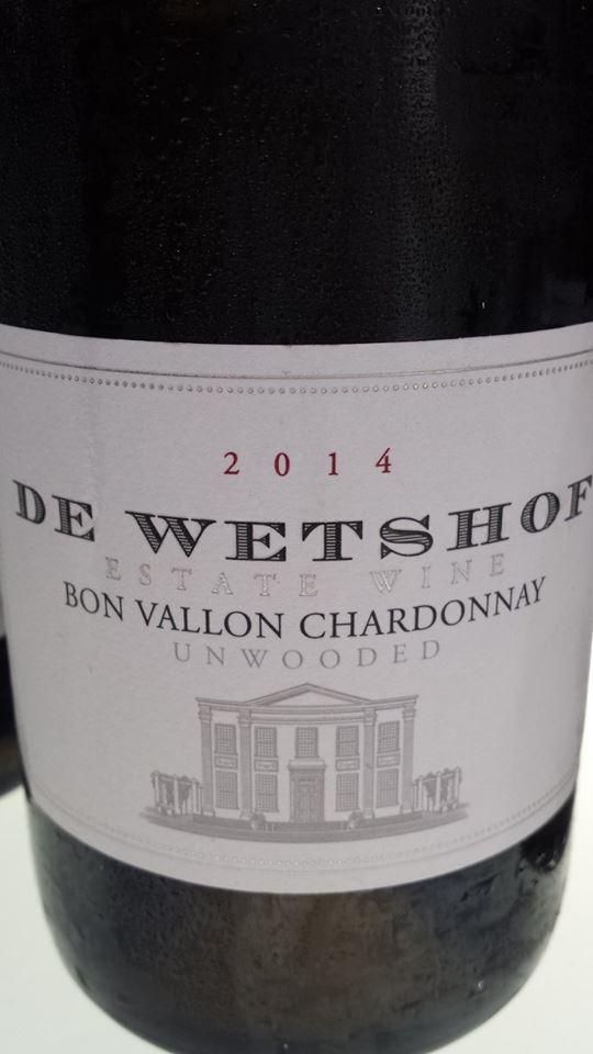 De Wetshof – Bon Vallon Chardonnay 2014 – Unwooded – Robertson
