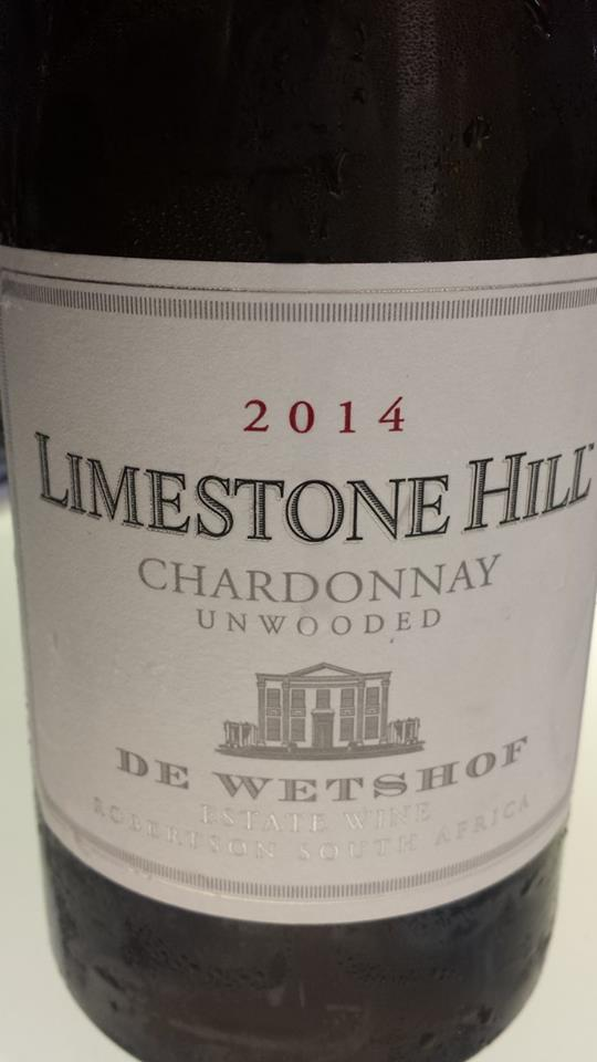 De Wetshof – Limestone Hill – Chardonnay 2014 – Unwooded – Robertson – South Africa