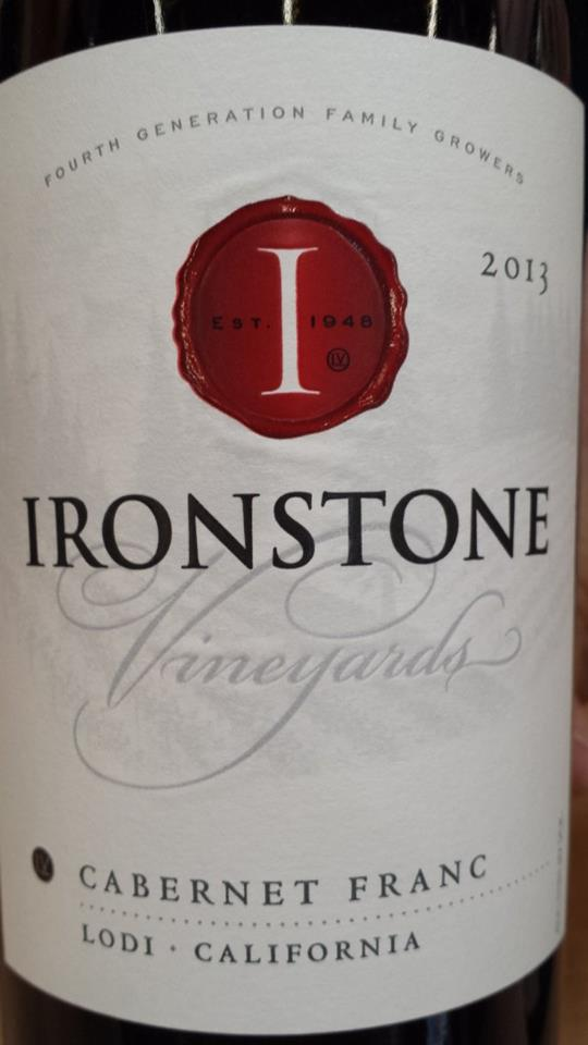 Ironstone Vineyards – Cabernet Franc 2013 – Lodi
