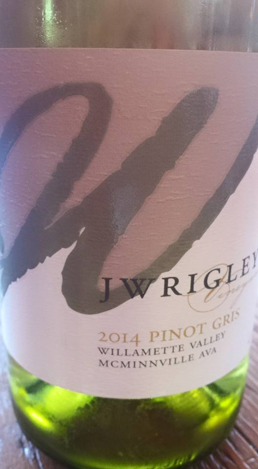 J Wrigley – 2014 Pinot Gris – Willamette Valley – McMinnville AVA