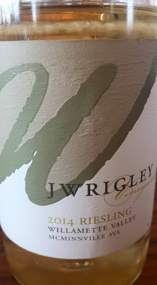 J Wrigley – 2014 Riesling – Willamette Valley – McMinnville AVA