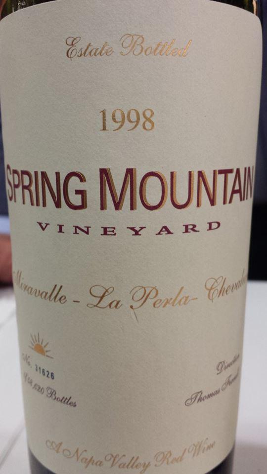 Spring Mountain Vineyard – Miravalle – La Perla – Chevalier 1998 – Napa Valley
