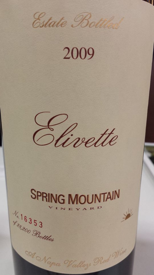 Spring Mountain Vineyard – Elivette 2009 – Napa Valley