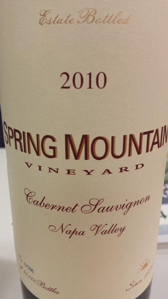 Spring Mountain Vineyard – Cabernet Sauvignon 2010 – Napa Valley