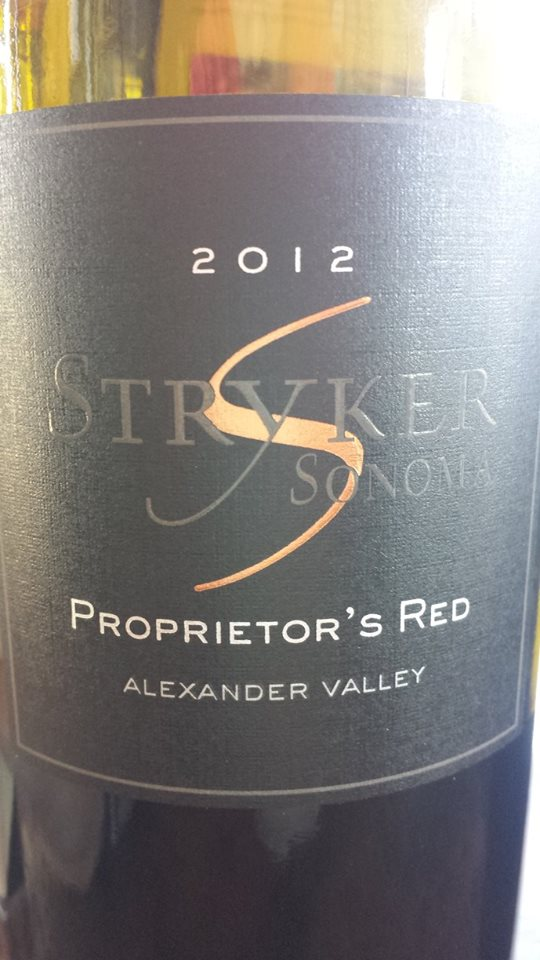 Stryker Winery – Proprietor's Red 2012 – Alexander Valley – Sonoma