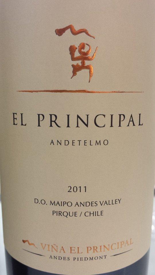 Viña El Principal – Andetelmo 2011 – D.O. Maipo Valley – Chile