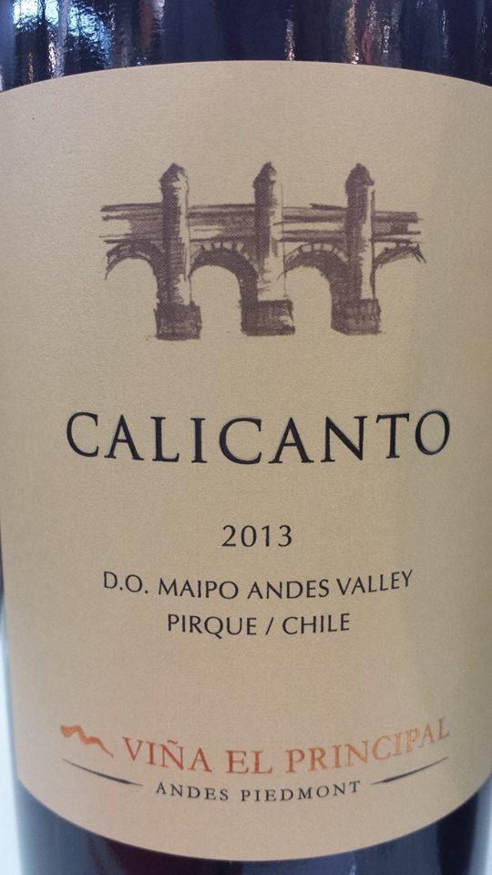 Viña El Principal – Calicanto 2013 – D.O. Maipo Valley – Chile