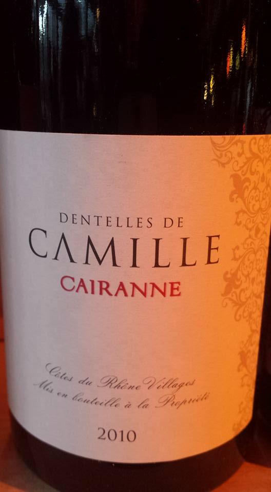 Cave de Cairanne – Les Dentelles de Camille 2010 – Côtes du Rhône Villages Cairanne