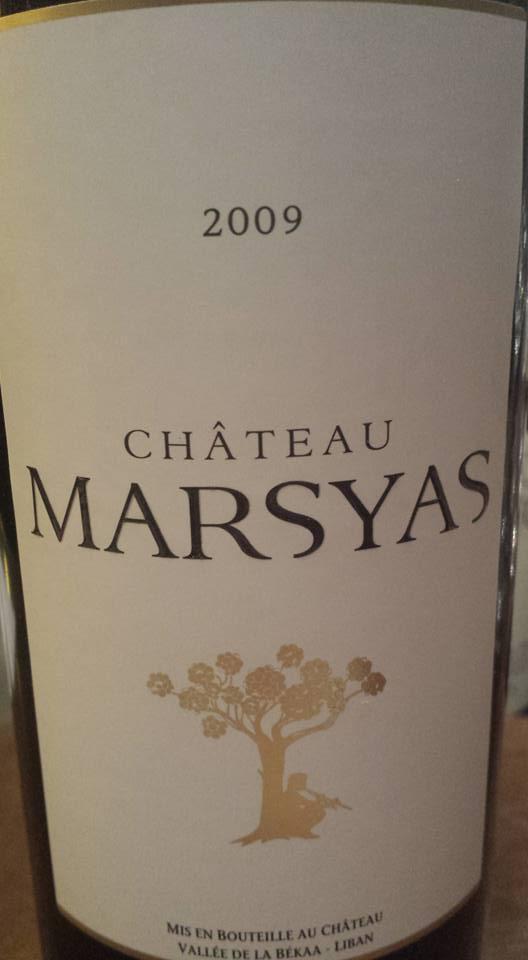 Château Marsyas 2009 – Vallée de la Békaa