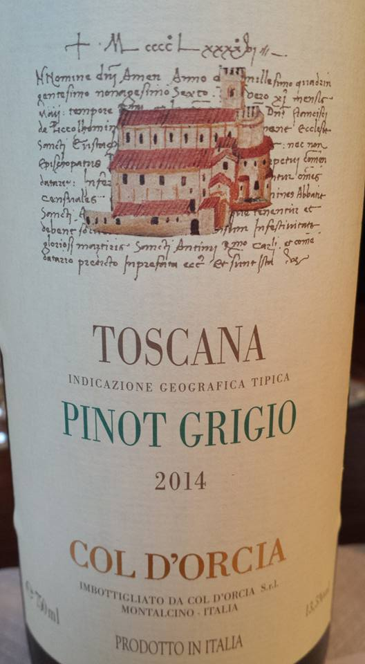 Col d'Orcia – Pinot Grigio 2014 – Toscana IGT