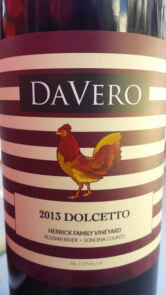 DaVero – 2013 Dolcetto – Herrick Family Vineyard – Russian River – Sonoma County