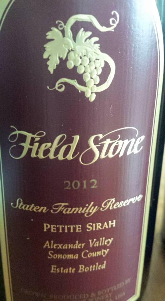 Field Stone Winery – Petite Syrah 2012 – Staten Family Reserve – Alexander Valley – Sonoma County