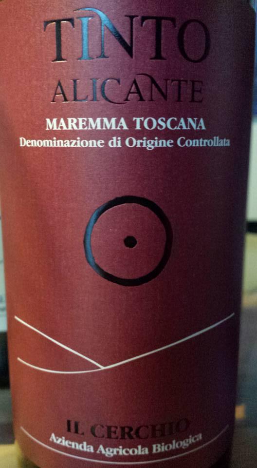 Il Cerchio – Tinto Alicante 2012 – Maremma Toscana