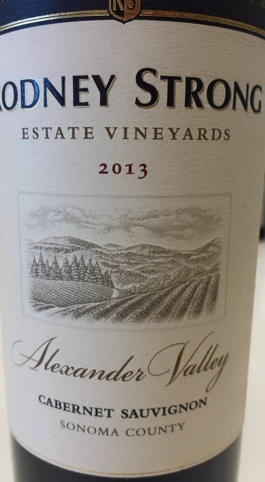 Rodney Strong Estate Vineyards – Cabernet Sauvignon 2013 – Alexander Valley – Sonoma