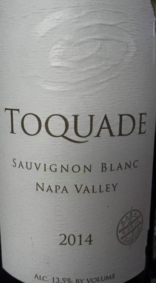Toquade – Sauvignon Blanc 2014 – Napa Valley