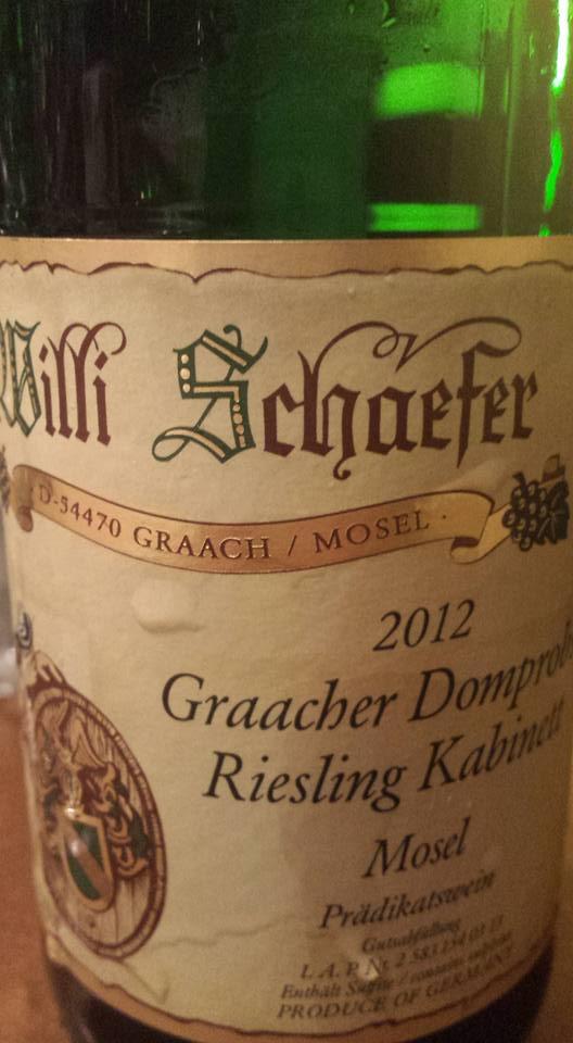 Willi Schaefer – Graacher Domprobst – Riesling Kabinett 2012 – Mosel – Graach