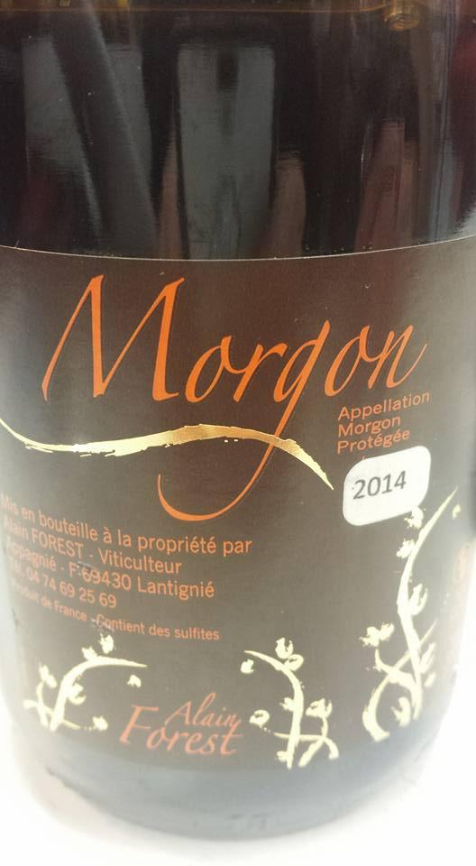 Alain Forest 2014 – Morgon