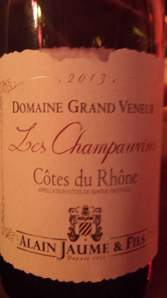 Alain Jaume & Fils – Domaine Grand Veneur – Les Champauvins 2013 – Côtes du Rhône