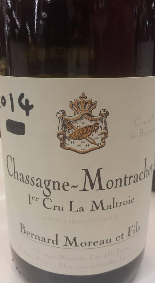 Bernard Moreau et Fils – La Maltroie 2014 – 1er Cru – Chassagne-Montrachet